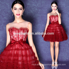 Schatz Mini Kurz Rock Sexy Red Puffy Prom Kleider