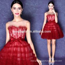 Sweetheart Mini saia curta Sexy Red Puffy Prom Dresses
