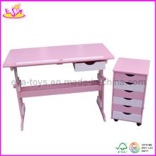 Ensemble de meubles en bois pour enfants - Bureau réglable et armoire (W08G077)