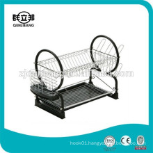 Black Power Coating Kitchen Dish Drainer For Supermarket Promotion