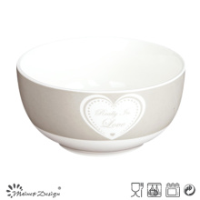 13cm New Bone China Bowl avec design de décalque de coeur simple