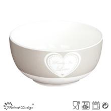 13cm Bowl con la calcomanía en diseño simple del corazón
