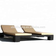 Comfortable outdoor rattan rattan chair chaise lounger sun bed