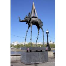 Vente chaude Statue Elephant dali pour en gros