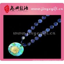 Bijoux de costume traditionnel chinois à la main pendentif en coquille grands colliers de mode