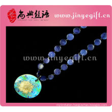 Chinese Traditional Costume Jewelry Handmade Shell Pendant Large Fashion Necklaces