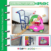 supermarket kids cart with cute toy car