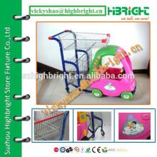 Carrinho para crianças de supermercado com carro de brinquedo bonito
