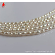 9-10mm White Cultured Rice Pearls Strands