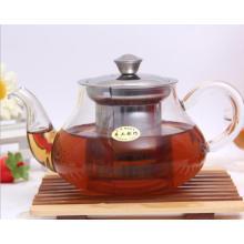 Pot de thé en verre personnalisé avec perfusion en acier inoxydable