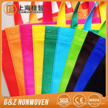 Sac à provisions multicolore en tissu non-tissé écologique biodégradable
