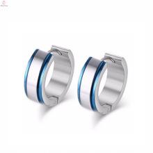 Chine usine 316L argent boucles d'oreilles en acier inoxydable bijoux