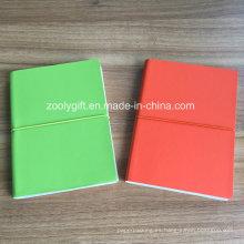 Cuero de calidad PU Cuadros de papel de color A5