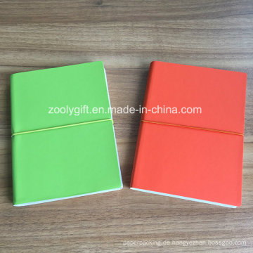 Qualität PU-Leder A5 Farbe Papier Notebooks
