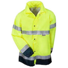 Men's Hi Vis Waterproof Breathable Rain Jacket