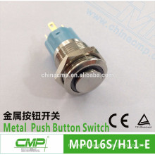 CMP 16mm thread size waterproof 1NO1NC push button latching on off switch