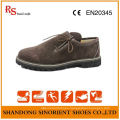 China Cow Suede Leather Rubber Soft Sole Men Safety Shoes Germany RS008