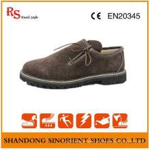 China Cow Suede Leather Rubber Soft Sole Men Sapatos de segurança Alemanha RS008