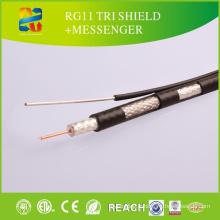 Hot Sale Meilleur prix Rg11 Câble coaxial / Rg11 avec Messenger