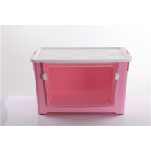 Plastic 70L Storage Box With Window and Wheel