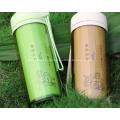 Auslaufsicherer doppelwandiger Bambusfaser-Plastikbecher