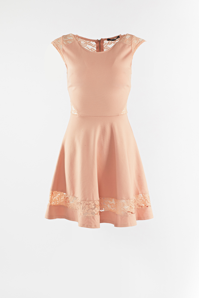 lace back with zipper dress