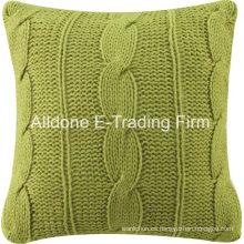 Cojín de almohada decorativa de punto con color sólido
