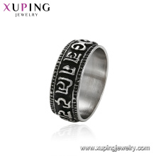 15503 xuping cincin jewelry simple design stainless steel muslim ring