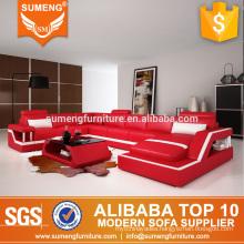 SUMENG 2017 new design genuine leather sofa set living room furniture