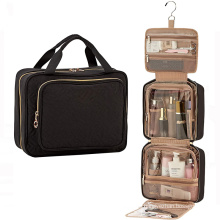 Hot Sale Black Makeup Bag Vanity Case Customized Toiletry Cosmetic Bags For Women