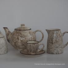 jogo de chá da caneca do copo de chá do bule