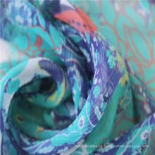Impressão digital para tecidos de seda Georgette de dobra de 8 mm