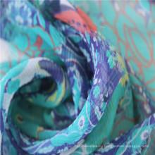 Цифровая печать на 8мм Рифленный Жоржет шелковой ткани