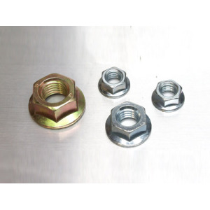 Heavy flange hex nut cap brass nut