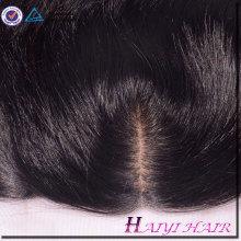 A cutícula completa do cabelo brasileiro do vison da categoria 9A alinhada pre arrancou o Frontal do laço 13 * 4