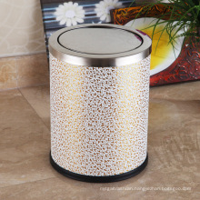 Stainless Steel Cloud Design 12L Push Dustbin (F-12LD)