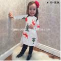 Vêtements de bébé de Noël manches longues belle fleur robe colorée filles enfants