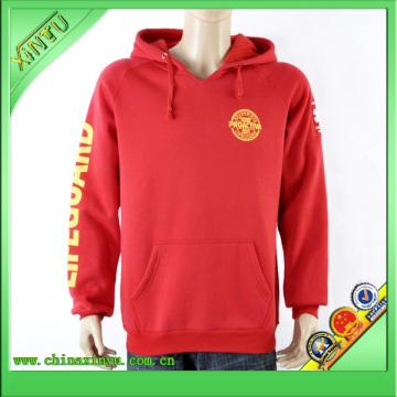 Sweatshirt à capuche rouge en broderie 3D
