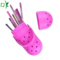 Popular Hole Shoes Silicone Pencil Bag for School