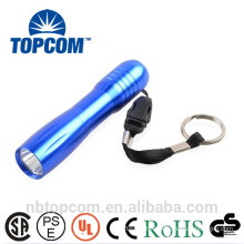 AA Battery Operated Blue Super Bright LED Pocket Torch with Key Chain