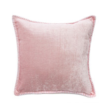 New design shiny velvet Whipstitch Throw pillow cushion cover with high quality stitch edge