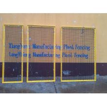 Werkstatt Vorsicht Zaun, Warnung Zaun