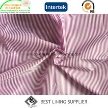 100 Polyester Two Tone Stripe Patterned Sleeve Lining Fabric Supplier