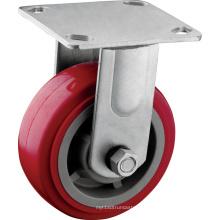 Heavy Duty Red 5 pulgadas ruedas fijas