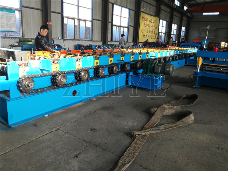 CNC Color Coated Steel Decking Roll Forming Line