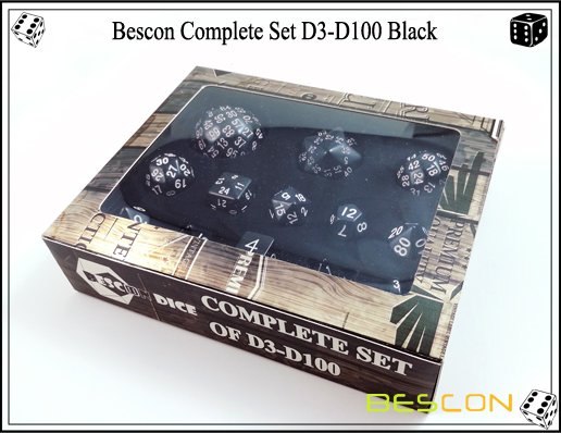 Complete Dice Set D3-D100 (12)
