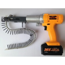 collated screw gun with rechargeable bettery