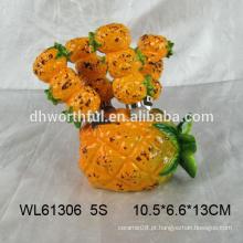 Faca de manteiga cerâmica de abacaxi criativo definido para cozinha