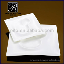 P & T Chaozhou Porzellan, spezielle Design-Platten, quadratische Platten, Teller