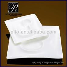 P & T chaozhou porcelana, placas de design especial, placas quadradas, pratos de jantar